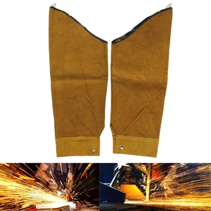 Image 5 - Free shipping Split Leather Heat Resistant Welding Sleeves Protective Armband for Welding Tool