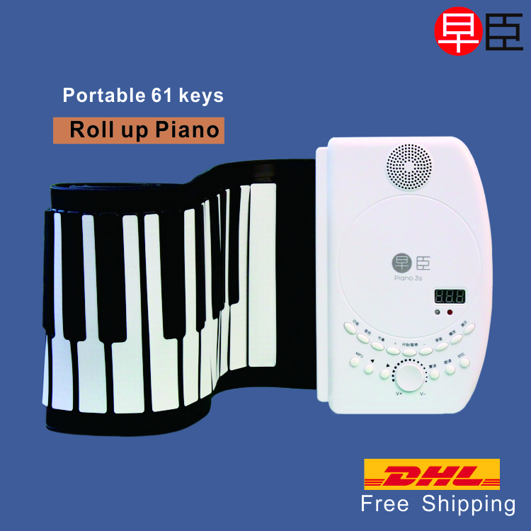 DHL Ship 61 keys professional electric piano music MIDI soft Silicone roll up musical instrument keyboard piano велосипед schwinn sprite 2015