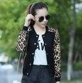 2015 Autumn Plus Size Clothing S-3XL Women Jacket Baseball Uniform Female Leopard Print Coat Ladies Bomber Jacket Outwear Coat