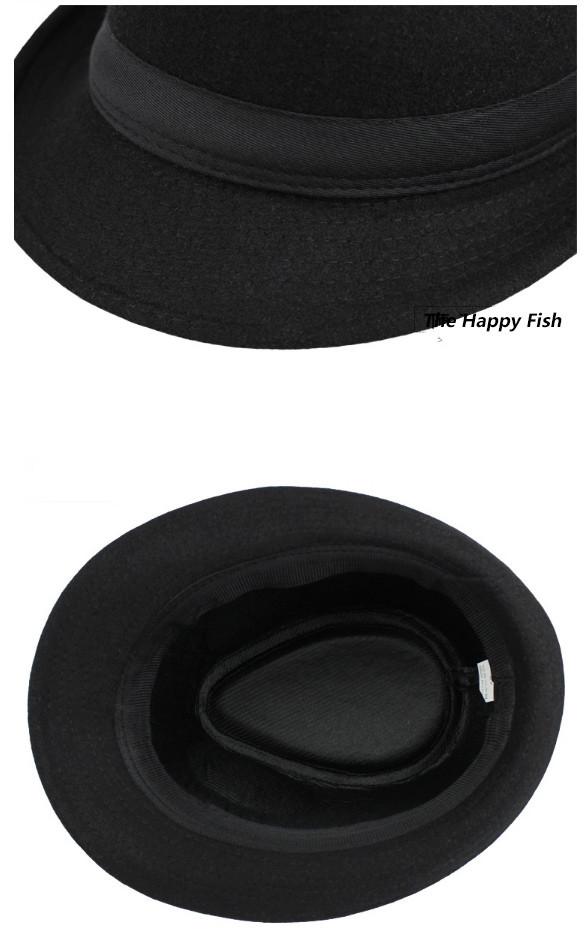 Original Unisex Structured Wool Fedora Hat Fedora hats for men fedora felt hat (8)