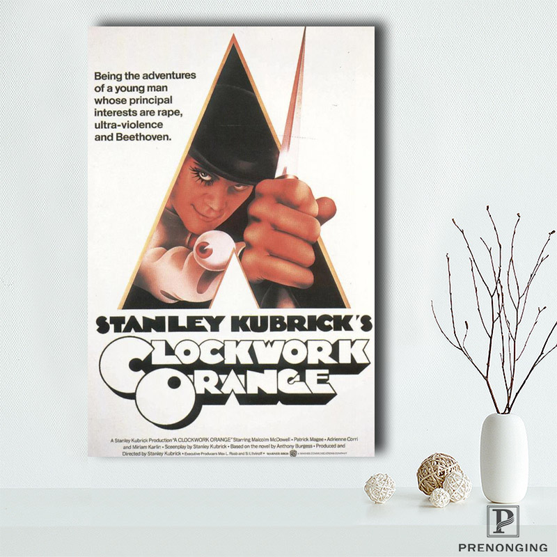 Canvas Poster Silk Fabric HD Poster, New Brand Clockwork Orange Collage Poster Room Decor Poster@190414-S-21