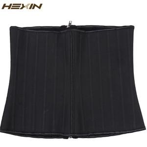 Image 5 - Эспандер для талии HEXIN, 25 стальных втулок, комбинированная застежка молния, латексная Молния и крючки, корсеты для нижнего бюста, формирователь тела