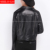 Plus tamaño de las nuevas mujeres de alta calidad de piel de Oveja locomotora remaches solapa cremallera cinturón negro de cuero genuino chaqueta corta XXXL