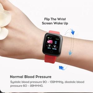 Image 4 - D13 inteligentny zegarek 116 Plus zegarek mierzący uderzenia serca nadgarstek zegarki sportowe inteligentny zespół ciśnienia krwi wodoodporny Smartwatch Android A2