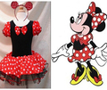 EMS DHL Free shipping 10 pcs/lot Toddler Girls Minnie Style Party Holiday Halloween Dress Dance Wear Holiday Costume Headband