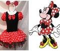 Ems DHL frete grátis 10 pçs/lote criança meninas Minnie festa de natal Halloween vestido de desgaste do traje cabeça