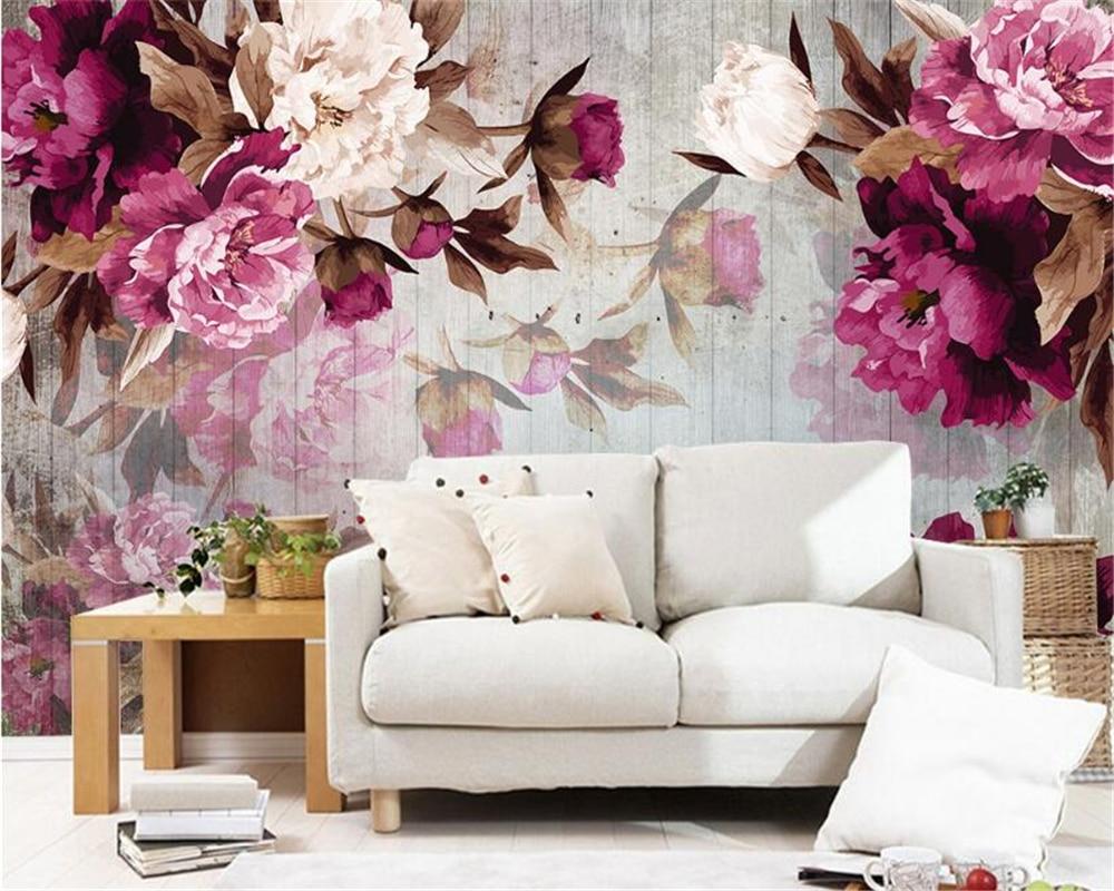Beibehang 3d Wallpapers Living Room Bedroom Mural Painting Hand
