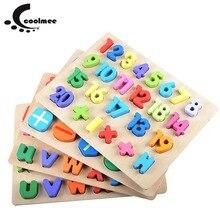 1 conjunto Colorido Brinquedo De Madeira Educacional Crianças Crianças Do Bebê Early Learning Math Número 123 Carta Do Alfabeto ABC Blocos Figura