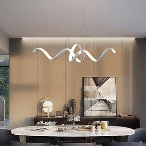 Image 4 - Di trasporto del nuovo Creativo LED Lampadari di Alluminio Nordic lampada lustre led lampadario moderno Per Soggiorno camera da letto Sala Da Pranzo lampadario illuminazione a led