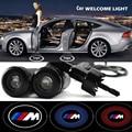 2 x Porta de Carro Luz Bem-vindo Santo Sombra Projetor Laser Luz Logotipo Para BMW M1 M3 M5 M635CSI E26 E34 E36 E39 E46 E89 E90 E91 E92