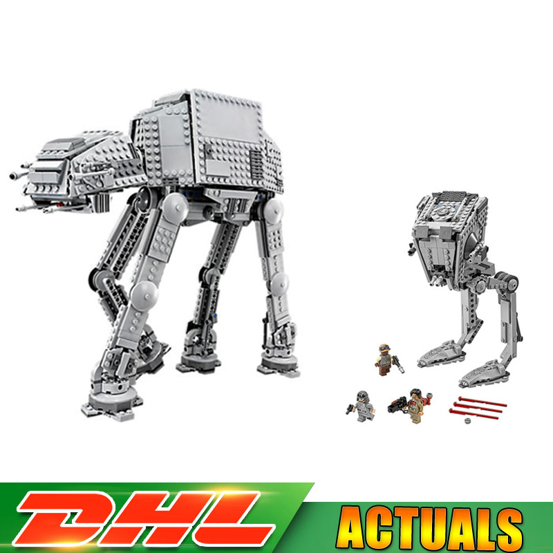 Lepin 05050 05052 Star Wars AT-AT AT-ST The Robot Electric Remote Control Blocks Toys Compatible LegoINGlys Toys 75054 75153 lego star wars 75153 лего звездные войны разведывательный транспортный шагоход at st™