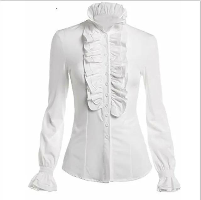 waxip Ruffled Slim Trumpet Long Sleeve T-Shirt women's clothing Sweatshirts Fashion embroidery bottoming shirt print hooded