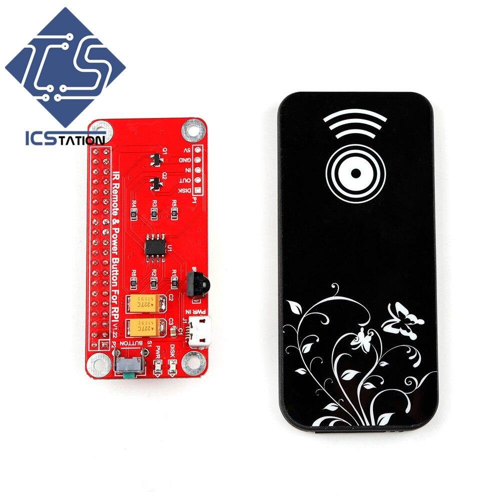 IR Remote Control Switch Module Remote Power Button for RPi Raspberry Pi 3 Model B/ 2B / B+ / A+/ B/ Zero
