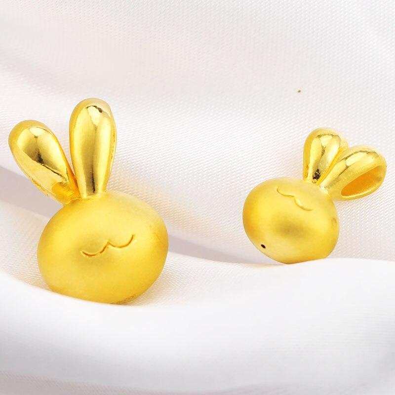 1pcs Pure 24K Yellow Gold Bracelet 3D 999 Gold Cute Bunny Bracelet недорго, оригинальная цена