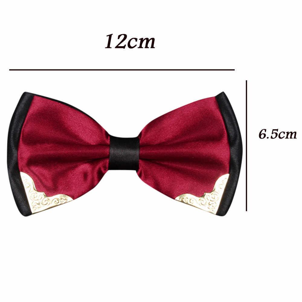 ربطة العنق الرجال الرسمي ربطة العنق الصبي رجال الأعمال موضة بابيون الزفاف الذكور فستان قميص قابل للتعديل سهرة ربطة العنق ربطة القوس فيونكة