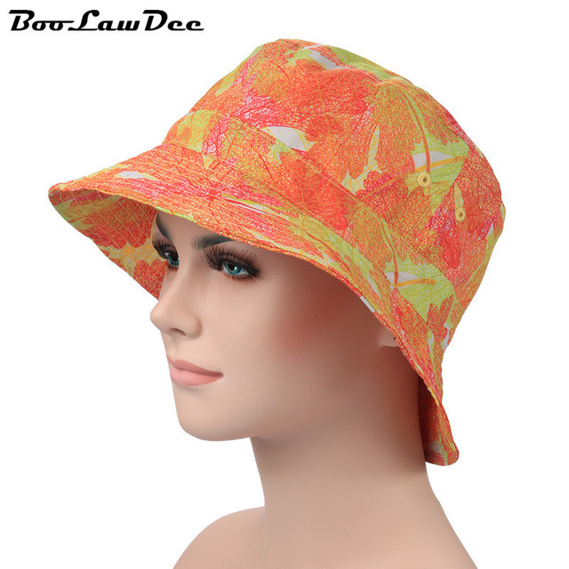 BooLawDee Fashion spring summer sunscreen cap quick-drying sun hat small brimmed breathable wash resistant print one size 4F023