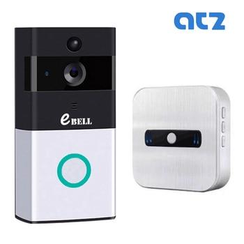 ATZ DBV08P WIFI Video Intercom Doorbell Support Battery Support 32G Memory Card 720P PIR Outdoor IP Camera Wireless Indoor Bell build in battery long time standby wireless wifi 720p ip doorbell intercom system