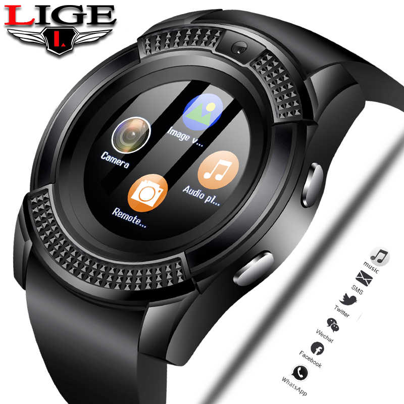 LIGE Women Smart Watch WristWatch Support With Camera Bluetooth SIM TF Card Smartwatch For ios Android Phone Couple Watch