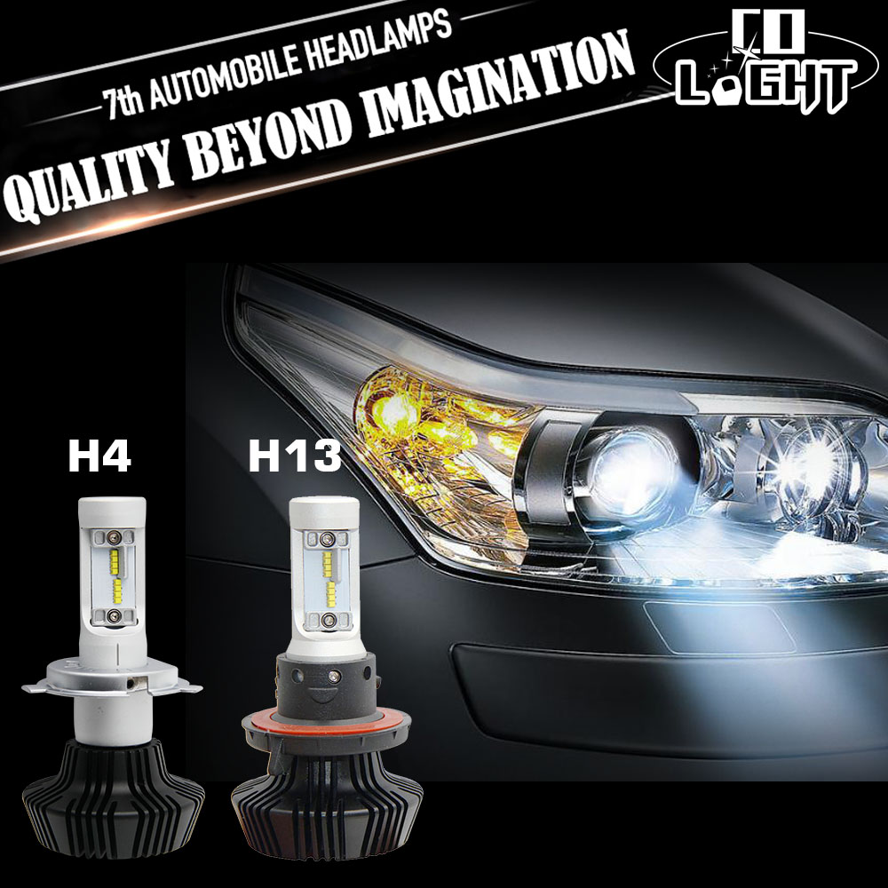 CO LIGHT H4 Led Headlight Bulbs kit 50W 8000LM Headlamp 6500K Super Bright White Light Auto Front Fog lamp H13 for Unversial Car