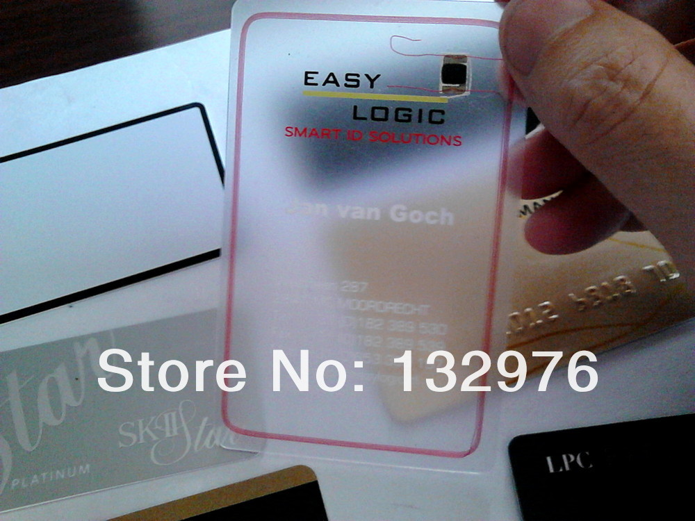 Clear Transparent PVC Business Card And Colorful Frosted Transparent Plastic Membership Card Or Matte Card Supply