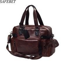 SAFEBET 2018 válltáska aktatáska divat férfi PU bőr nagy kapacitású hordozható férfi márka táska Business Bag