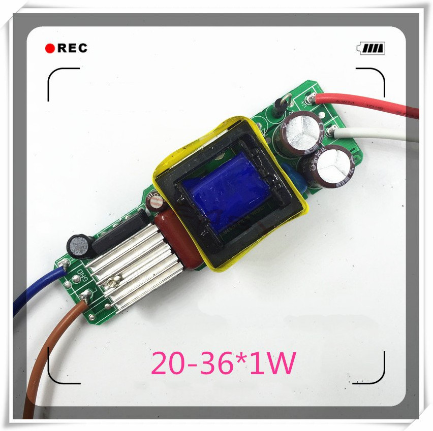 (20~36)*1W 300ma,AC 85~265v High power Driver For LED Lamp Light Constant Current Driver Power Supply lww 1w 100lm 6500k white led ceiling lamp down light with led driver ac 85 265v