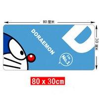 Cartoon Doraemon big size blokowania krawędzi gaming mouse pad piękny prezent chłopiec laptop stół mata podkładka pod mysz dla biura, gry graczy