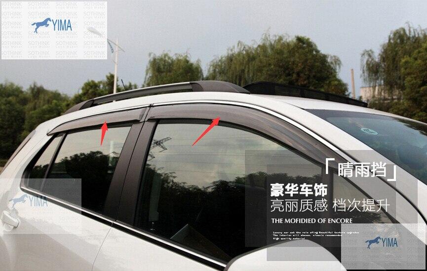 Pare-brise pare-Vent pare-pluie déflecteur visière garde évent 4 pièces pour Chevrolet TRAX 2014 2015