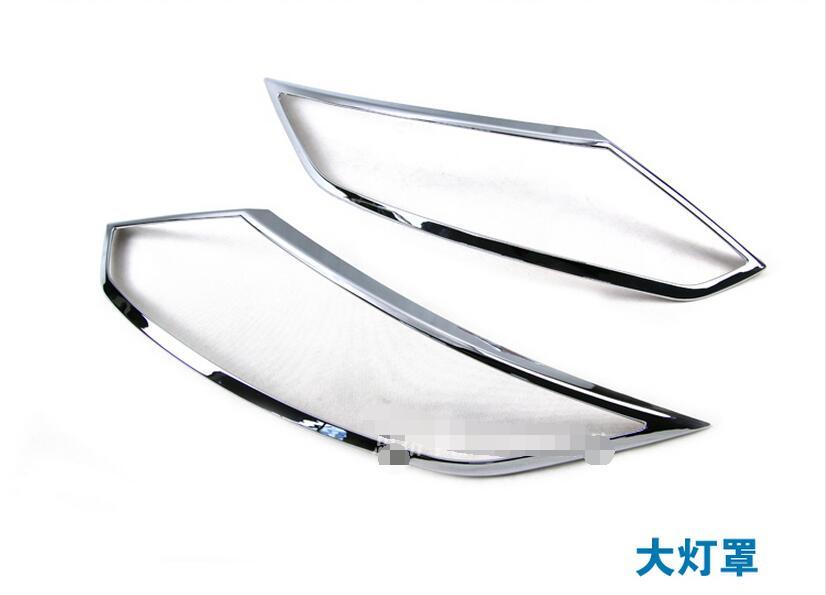 2 pcs ABS Chrome Avant Lampe Phares Couverture Garniture Cadre Autocollant Pour Nissan Qashqai 2014 2015 2016