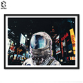 Sci-fi Pop-surrealism Night Life Print and Poster Wall art Astronaut Canvas Painting Picture for Living Room Home Decor