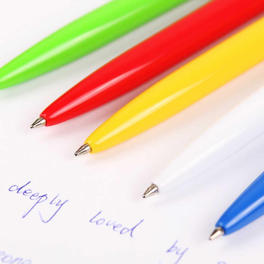 B-573Dหมึกสีฟ้ากดพลาสติกปากกาลูกลื่น 0.7 มม.Officeอุปกรณ์เสริมปากกาเครื่องเขียน