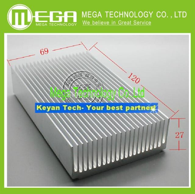 Радиатор алюминиевый теплоотвод 120*69*27 мм вставить