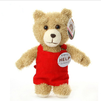 Free shipping 40cm 16inch Teddy Bear Ted Plush Dolls Man's Ted Bear Stuffed Plush Toys Birthday/Christmas Gift Tao