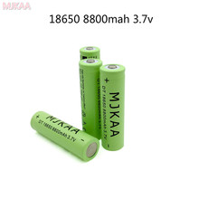 MJKAA 4pcs/lot New 8800mAh 3.7V Li-ion Lithium Battery 18650 Rechargeable  with PCB for Laser Pen Flashlight Torch