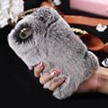 Роскошь Кролика мехового Чехол на айфон 7 7 плюс теплая зима Осень меховой оболочка гладкая плюшевая на айфон 6 6S плюс Чехол 5 5S SE Капа