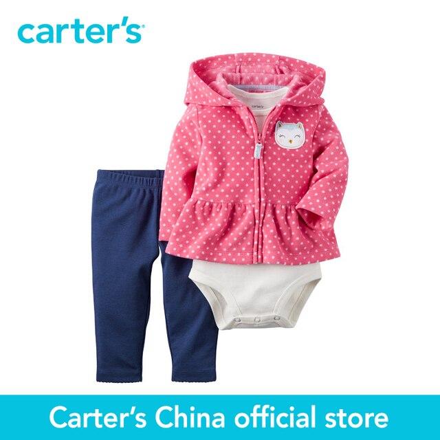 Картера 3 шт. детские дети дети Кардиган Набор 121G752, продавец картера Китай официальный магазин
