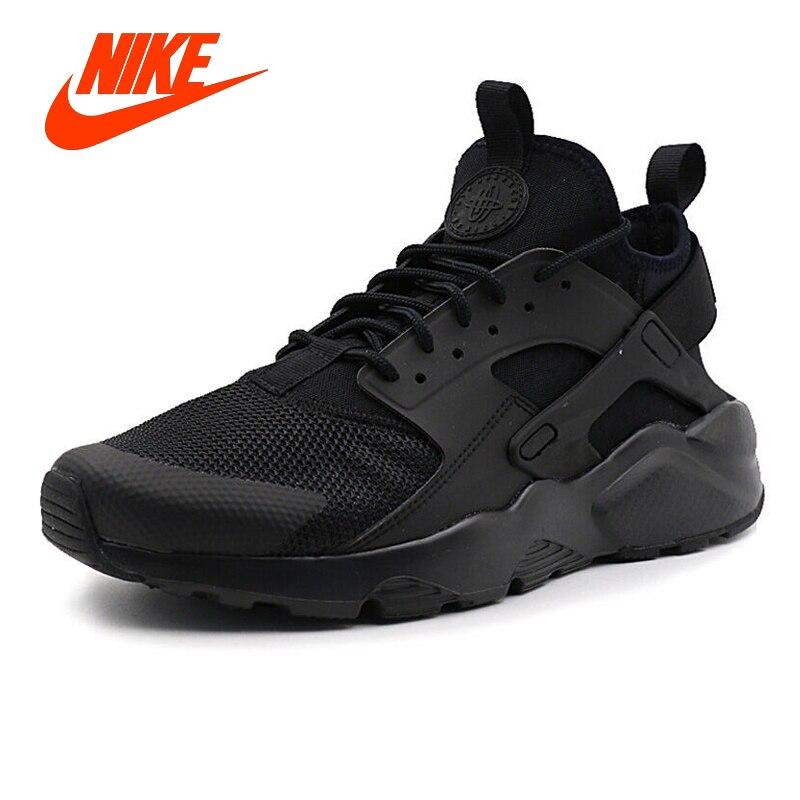 Оригинальные мужские черные кроссовки NIKE AIR HUARACHE RUN ULTRA Мужские дышащие кроссовки Классические теннисные туфли для мужчин