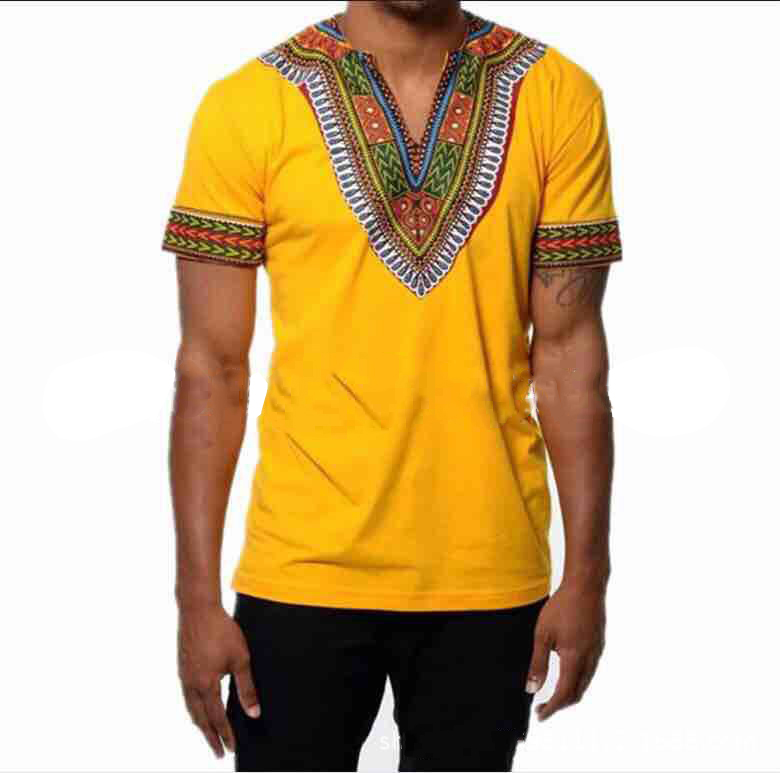 African Traditional Clothing For Men Dashiki Summer T Shirt Print T-shirt Male Ethnic Africa Clothes