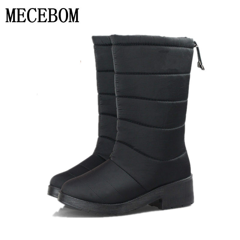 New 2017 fashion fur female warm ankle boots women boots snow boots and autumn winter comfortable plus size 35-40 shoes W703W