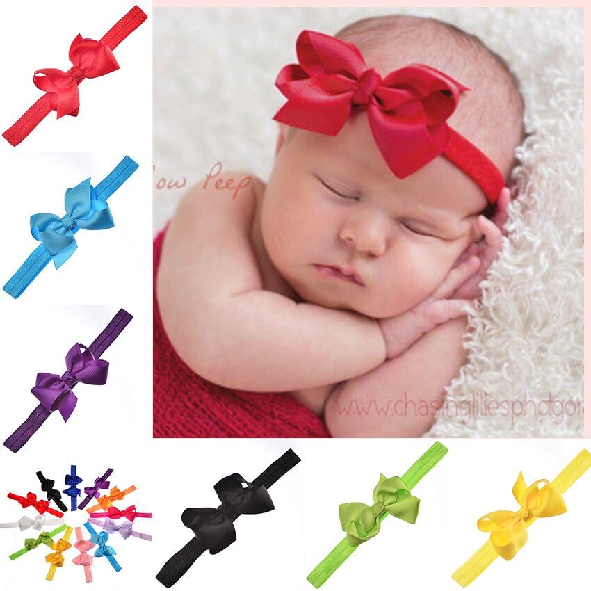 12pcs Baby Kids Girls Mini Bowknot Hairband Elastic Headband Dropshipping Newborn Baby Girl Headbands Hairband Wedding