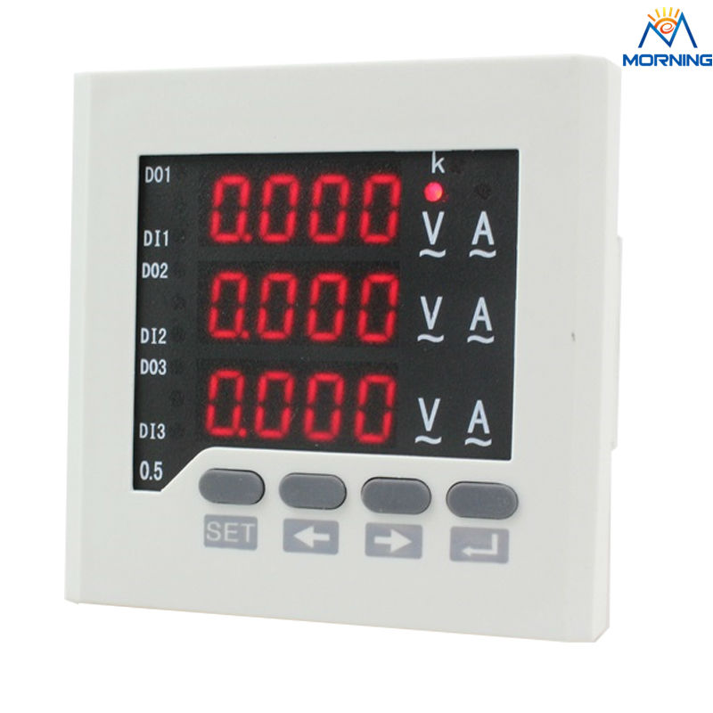 3UIF63 panel size 72*72 low price led ac ammeter and voltmeter 3 phase digital combined meter for distribution box 3av73 frame size 80 80mm led digital display ac three phase voltmeter