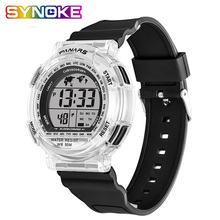 SYNOKE Mens Watch Multifunctional Waterproof Colorful Back Night Optical Couple Sports Electronic Kids Watches Relogio