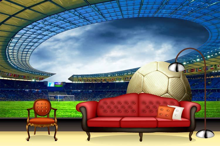 Superbe 2014 Post Free Movement Of 3d Football Wallpaper Building Renovation Room  Living Bedroom Wall Painting Large Murals World Cup In Wallpapers From Home  ...