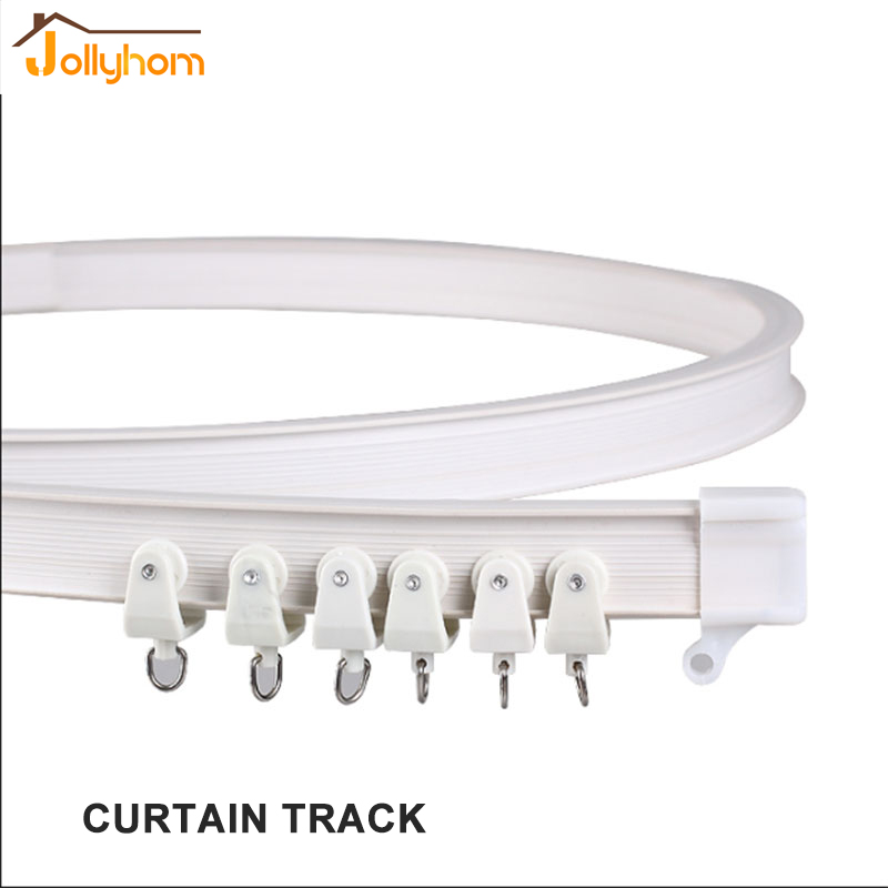 High Quality Curtains Curved Track Straight Curved Curtain Rod Track  Monorail Curtain Acessary(China (