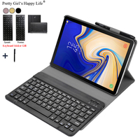 Detachable Case For Samsung Galaxy Tab A 10.1' 2019 T510 T515 WiFi Bluetooth Keyboard Flip Leather Cover+Pen Holder