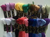 24Skeins 8 7 Yard Multi Color Cotton Cross Stitch Floss Embroidery Threads Floss Sewing Threads