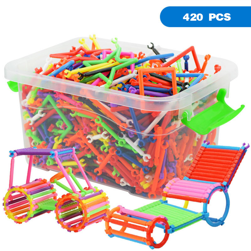 420pcs DIY Assembled Building Blocks Toys Smart Stick Blocks Boys And Girls Creativity Educational Toys for Children With Box