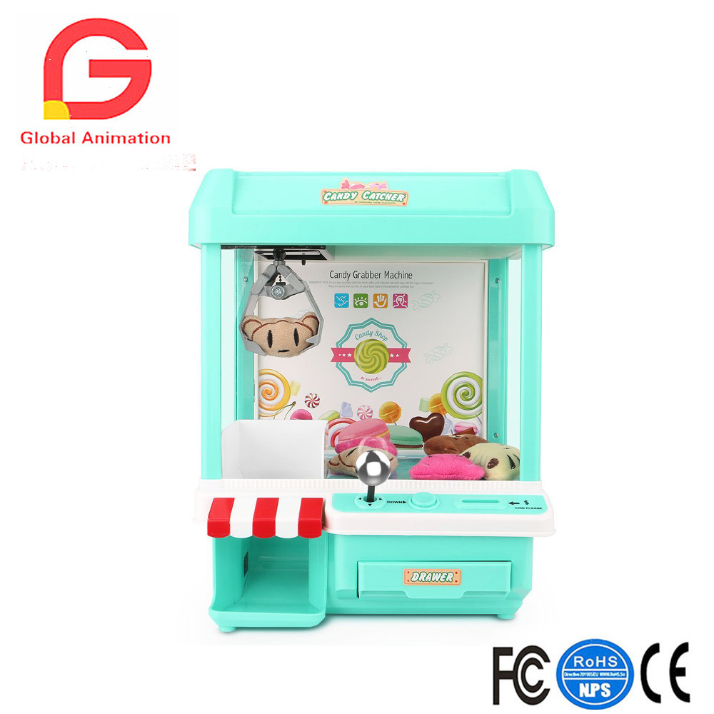 Mini Candy Claw Machine Toys indoor Arcade Game and Prizes for Boys and Girls with Music Sounds Coin Dolls composite suite new toys dolls crane claw machine excavator simulation vending machine for sale gift machine in operated coins