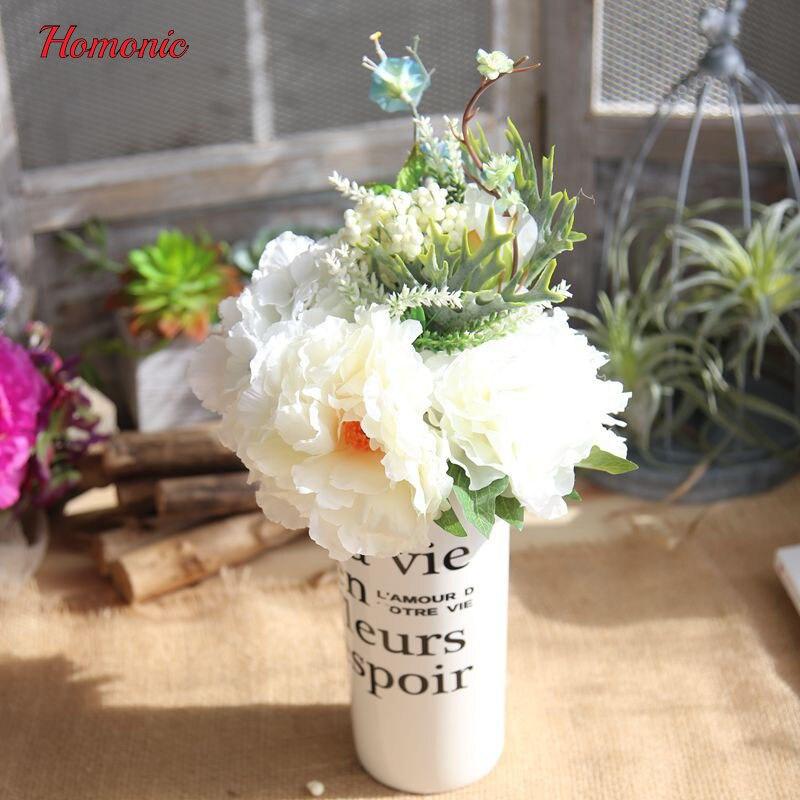 ̿̿̿(•̪ )2017 Fashion New wedding bouquet handmade artificial flower ...