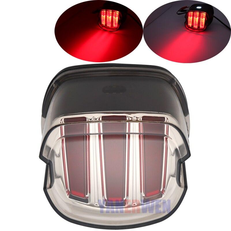 2019 ans nouvelle fumée LED feu arrière frein lumière moto éclairage queue frein lumière indicateur lampe moto accessoires.